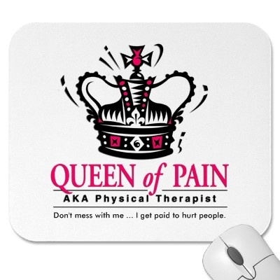 """""""Queen of Pain"""" Physical Therapist Mousepad by freelulu"""