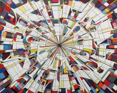 "Saatchi Art Artist Alberto Silva; Painting, ""The running canvas - Germany subways."" #art"