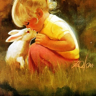 kisses: Dogs Pics, Little Girls, Donald O'Connor, Oil Paintings, Donald Bottom, Exercise Workout, Paintings Pictures, Child Art, Ears Childhood