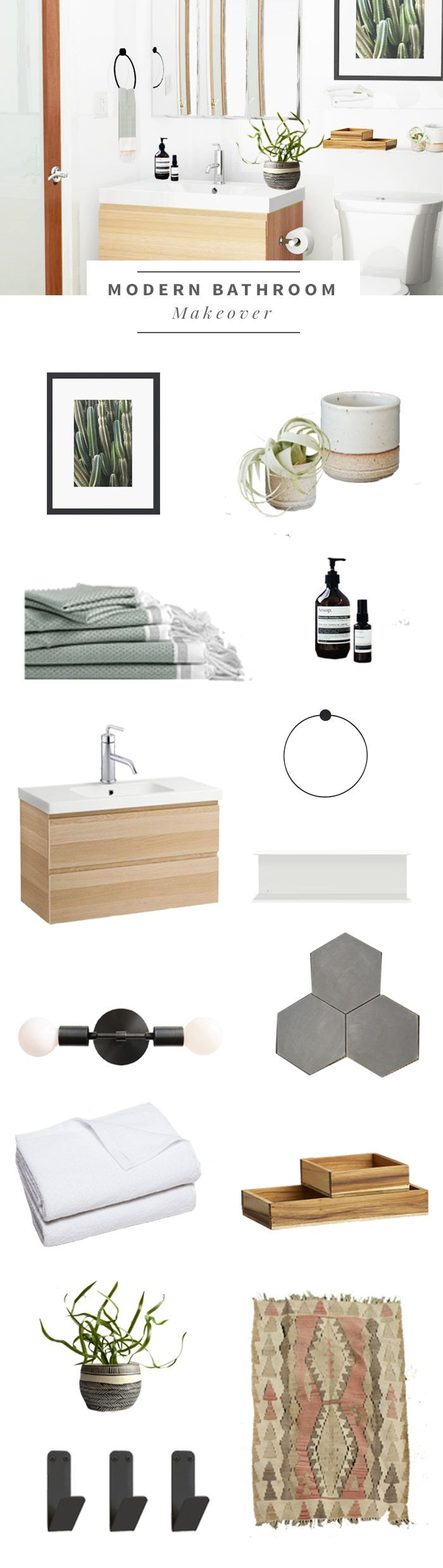 Our home: Making over the master bath - Hither & Thither