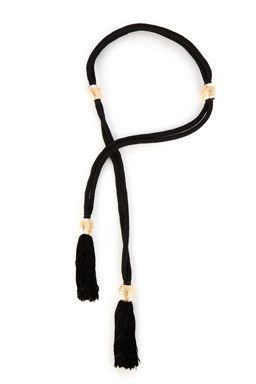 This rope belt features high-shine engraved beads, tassel details and self-tie fastening.Fabric:Main: 100.0% Polyester.Wash care:Do Not CleanProduct code: 02342277 Price: £22.00