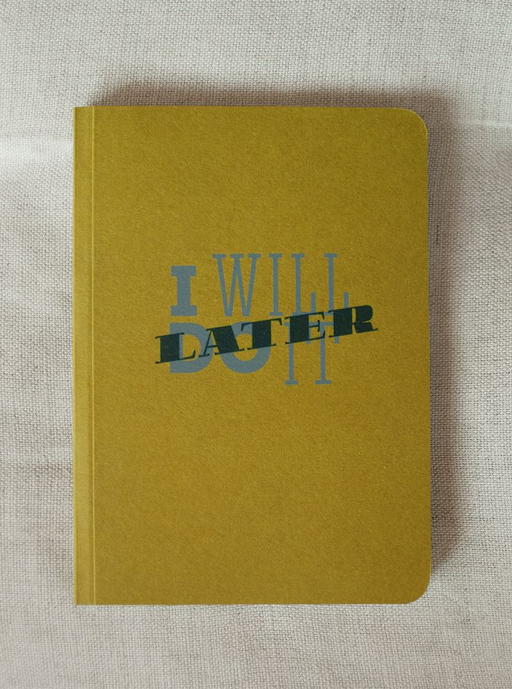 Notebook for hesitaters