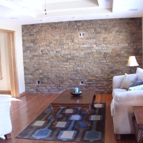 Accent Wall Tile Ideas Living Room Stone Wall Living Room Faux