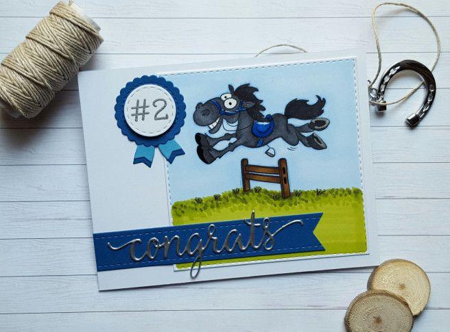 YNS horse congrats card