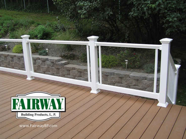 15 best fairway building products best place to buy railing from images on pinterest - Vinyl deck railing lowes ...
