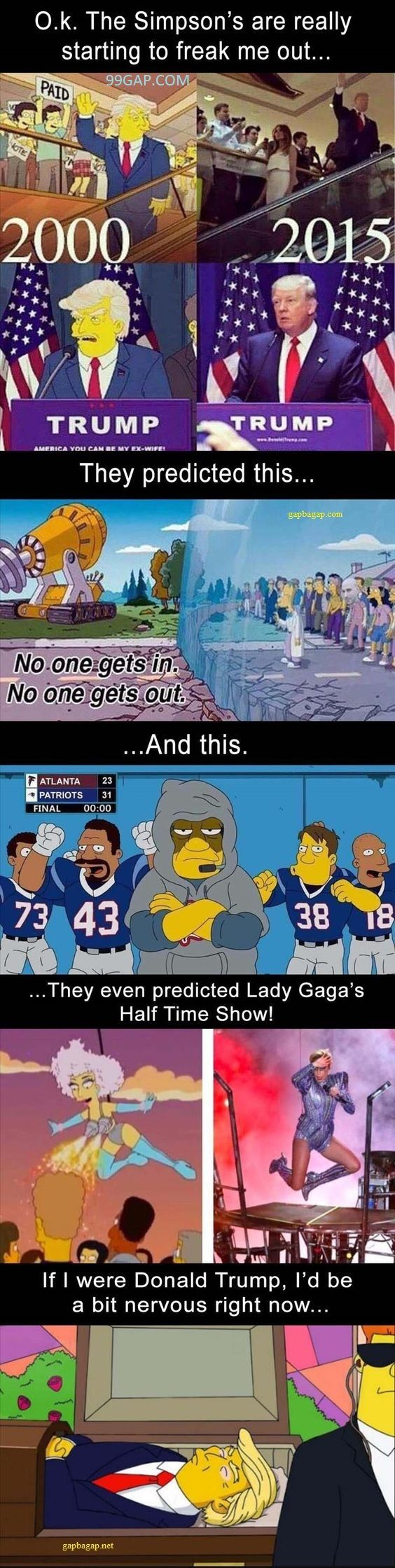 #FunnyPictures Of The Simpsons Predicting About Donald Trump