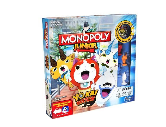 Monopoly Junior Yokai Yo-kai Watch Edition Family Board Game Table Kid Fun Medal #Hasbro