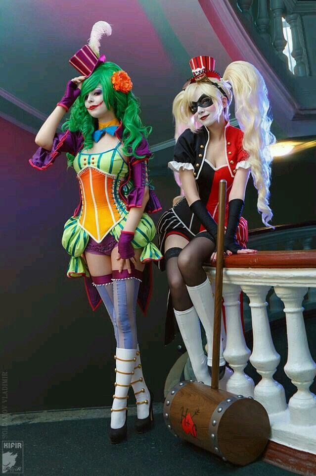 Joker and harley quinn steam punk noflutter cosplay