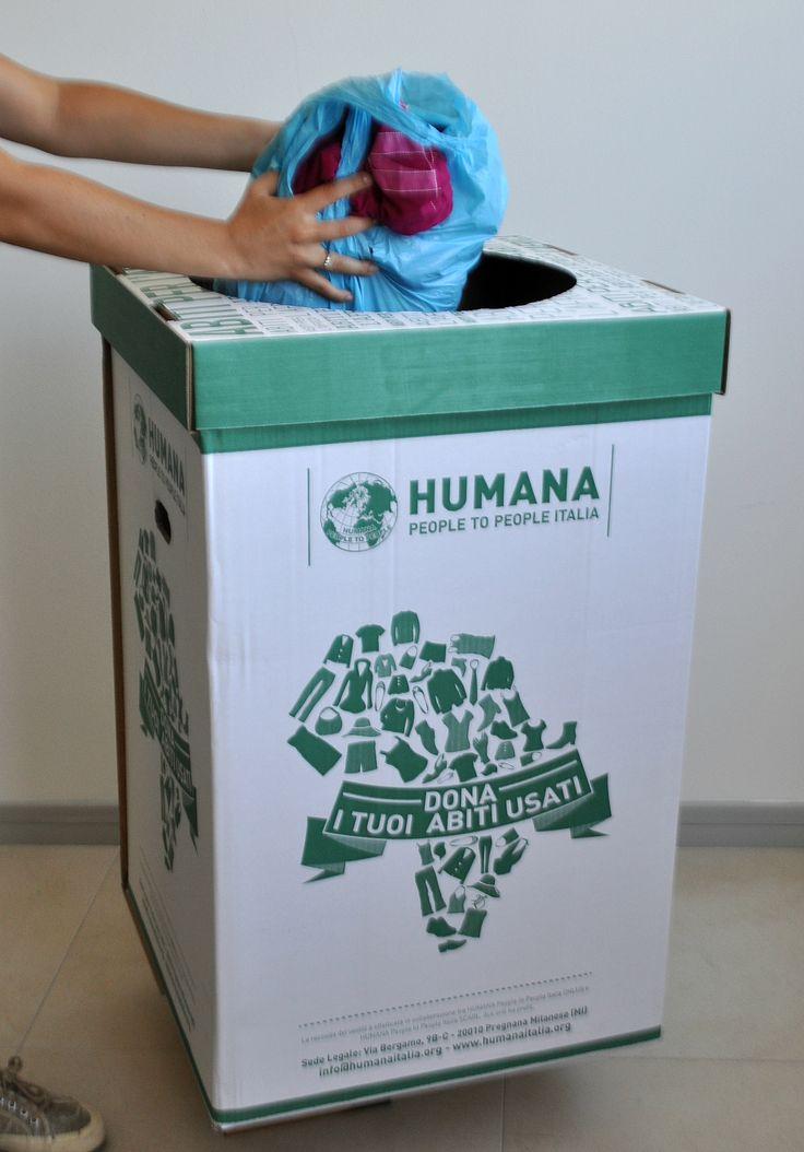 Da oggi donare i tuoi abiti usati a favore dei progetti di sviluppo di HUMANA è ancora più facile: sono arrivati i nuovi ECOBOX! Scopri i Negozi Solidali che hanno scelto di ospitarli nei centri storici di Milano, Torino e Brescia.