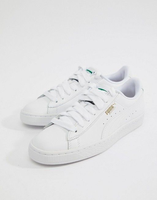 finest selection f6585 99f29 Puma Basket Classic White Sneakers in 2019 | ✨trainers ...