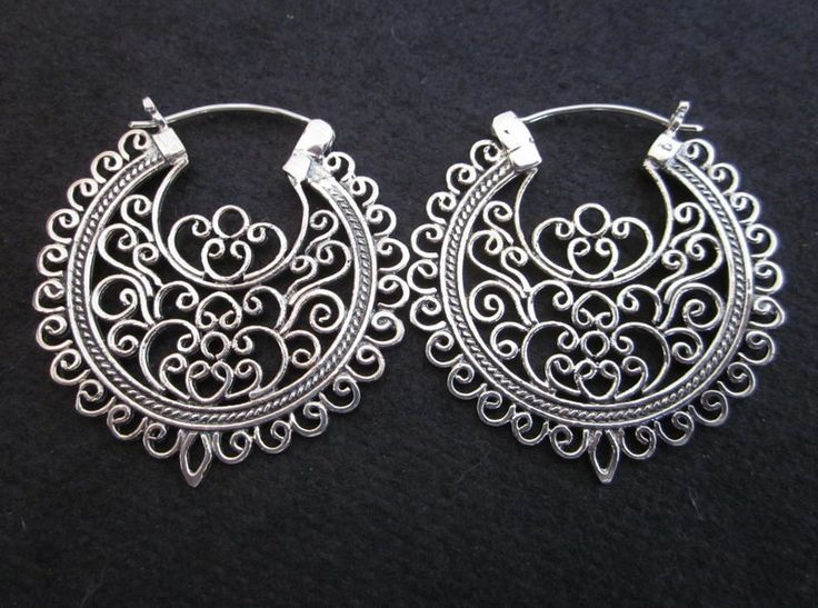 Balinese Outstanding Sterling Silver Traditional style earrings via Etsy