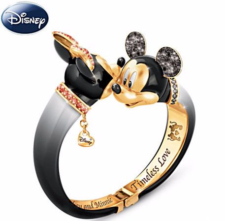 Disney Mickey and Minnie Mouse Swarovski Crystal Bangle - oh my gosh, how great is this?