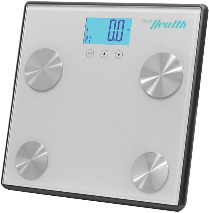 bluetooth digital weight & personal health scale with wireless smartphone data transfer gray
