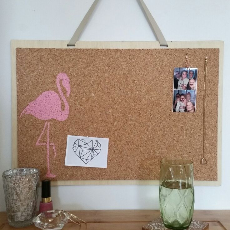 Pink Flamingo pinboard, now available