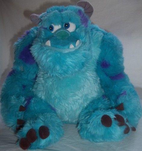 "Disney Store Monsters Inc Sully Plush Stuffed Animal 12"" Tall Blue Purple Toy   eBay"