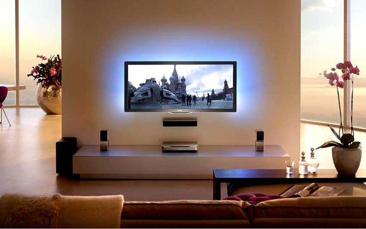 Meer dan 1000 idee u00ebn over Tv Ophangen op Pinterest   Verbergen Tv Snoeren, Tv Kamer Decoraties