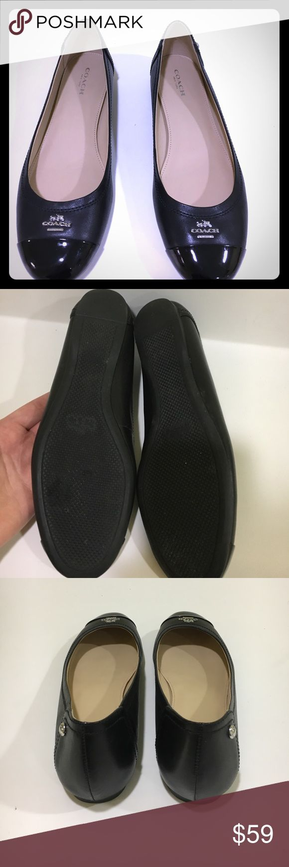 Coach Flats Excellent Condition! Black Coach Flats worn twice. In excellent condition. See pictures. Coach Shoes Flats & Loafers