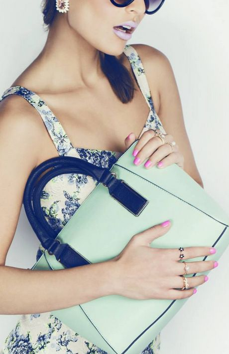 New Look SS14 Look Book #newlookfashion #mint #pastel #bag #accessories