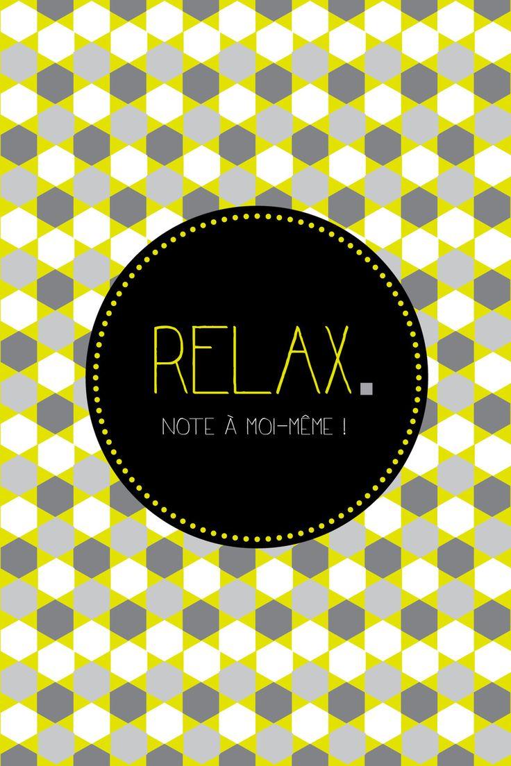 """Carte losanges, gris, moutarde et blanc """"Relax"""" : Cartes par suite-creative-babies"""