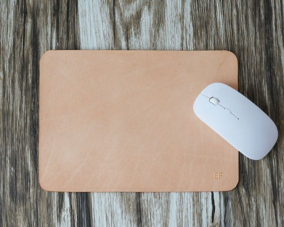 Leather Mouse Pad Mouse Pad Leather mousepad Monogram $18