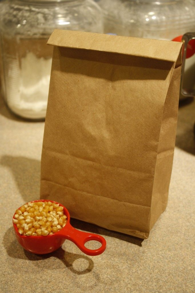 Homemade microwave popcorn! A much healthier and more frugal alternative!