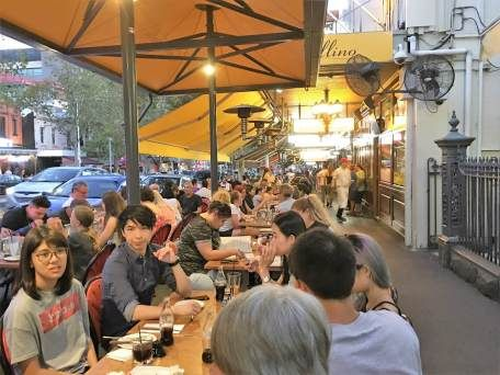 Lygon Street in Melbourne, Australia for Italian food. More at www.travelswithtalek.com