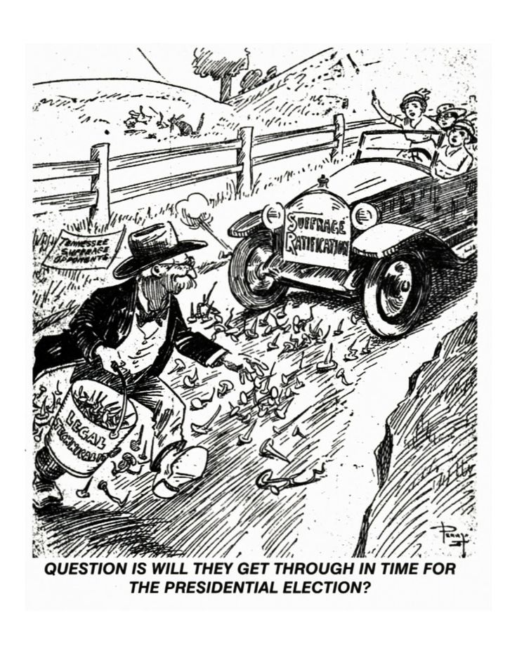 Cartoon - Question is will they get through in time for the Presidental Election?