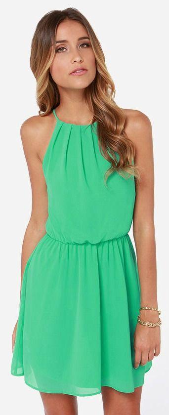 Flirty Kelly Green Dress