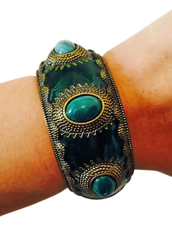 NEW FITNESS TRACKER JEWELRY FOR JAWBONE UP! Fitness Activity Tracker Bracelet for Jawbone Up - The APHRODITE Emerald Green and Gold Jawbone Bracelet - FREE SHIPPING   #Jawbone #fitness