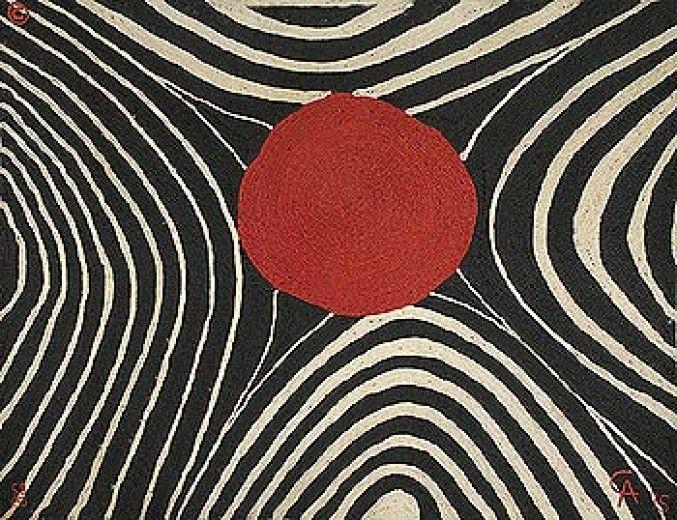 Zebra Weaving by Alexander Calder