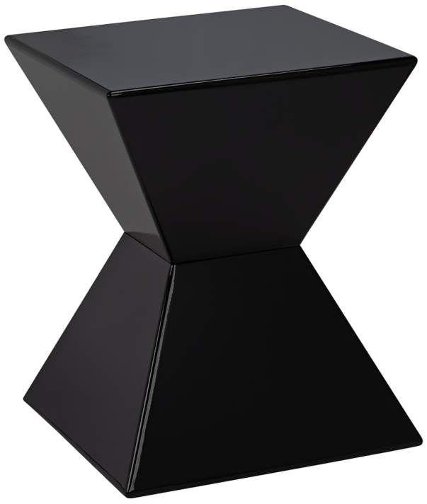 Rocco Modern Square Black End Table 6g061 Lamps Plus Black