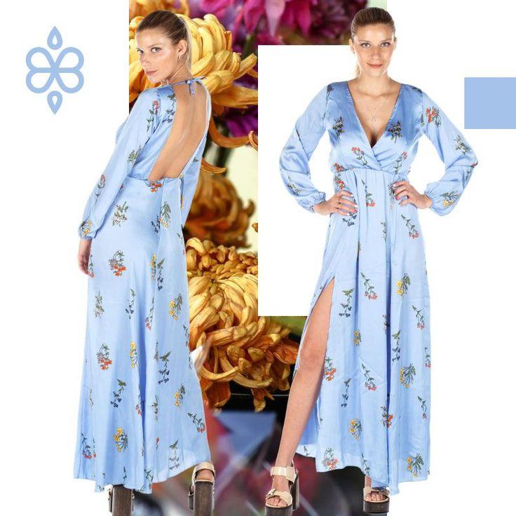 #Vestido PHILIPPINA #skyblue  #Impactante! • Descubrí más en barbaradoutzen.com • Contact ~  351 5910810 \\ #verano #descuentos \\ Por mayor y menor • Todo #SS18 #onsale! @GislenaMonteros