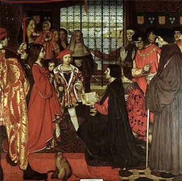 Erasmus and Sir Thomas More Visit the Children of Henry VII at Greenwich in 1499, 1910 - Frank Cadogan Cowper