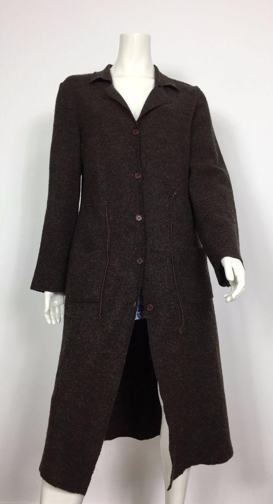 Liu jo collection capottino cappotto giacca lunga donna L usato marrone T1994