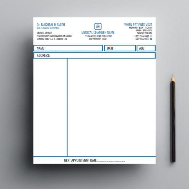 قالب تصميم وصفة طبية Design Template Design Templates