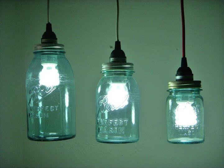 35 Mason Jar Lights Do It Yourself Ideas Mason Jar Pendant Light