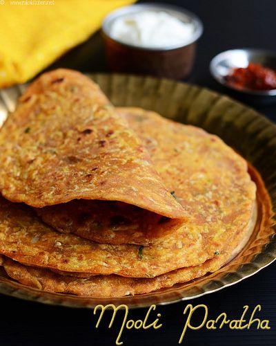 Easy Mooli Paratha - Radish Flat Bread.