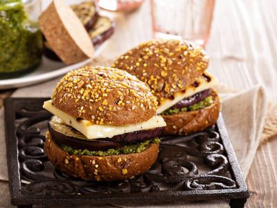 Seasoned portobello mushroom caps grilled until tender and topped with swiss cheese.  Drizzle with balsamic vinegar to add a hint of sweetness.