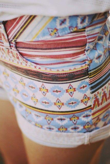 Southwest Navajo shorts!