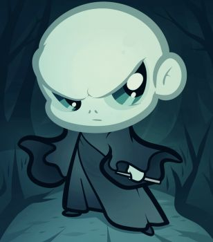 How to Draw Chibi Voldemort, Voldemort From Harry Potter, Step by Step, Chibis, Draw Chibi, Anime, Draw Japanese Anime, Draw Manga, FREE Online Drawing Tutorial, Added by Dawn, August 26, 2012, 2:38:45 pm