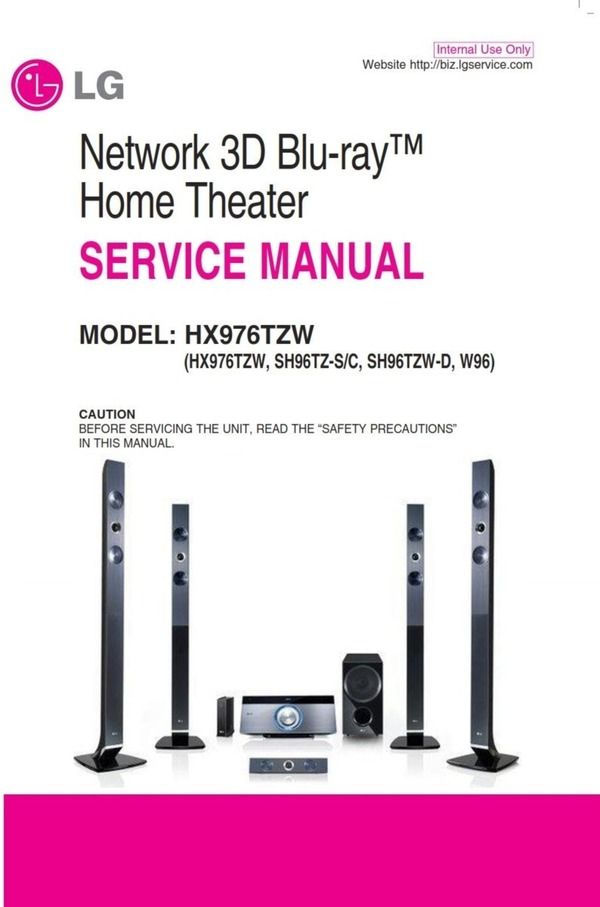 Lg Hx976tzw Home Theater System Service Manual Home Theater System Repair Guide Home Theater