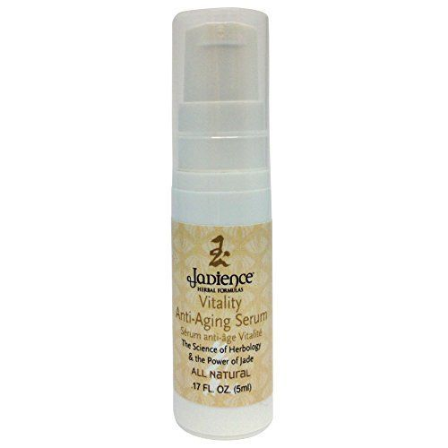 Vitality AntiAging Facial Serum for All Skin Types  Promotes Healthy Skin Cell Growth  Smooth Fine Lines  Wrinkles Rejuvenate Brighten  Tone  All Natural  17oz Purse Size by Jadience ** Want to know more, click on the image.