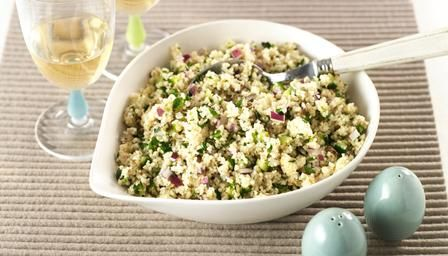 Couscous salad - only use 1.5 parts water otherwise it goes soggy!