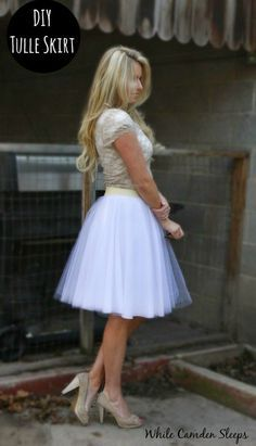 The lazy girl version diy tulle skirt. No seams. No gathering. No hemming. Just cutting, basting, and attaching the elastic band.