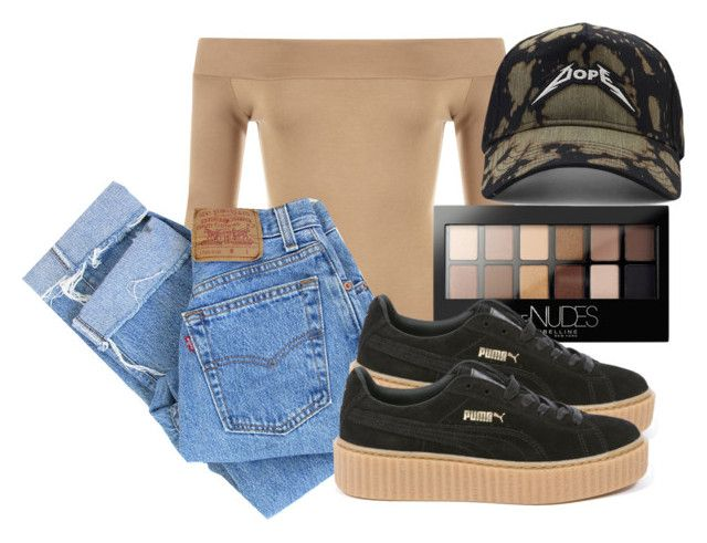"""Untitled #122"" by trillqueen34 ❤ liked on Polyvore featuring WearAll, Levi's, Maybelline, Puma and 21 Men"