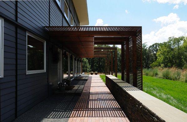 Custom modern l shaped patio pergola ideas pergolas for L shaped pergola