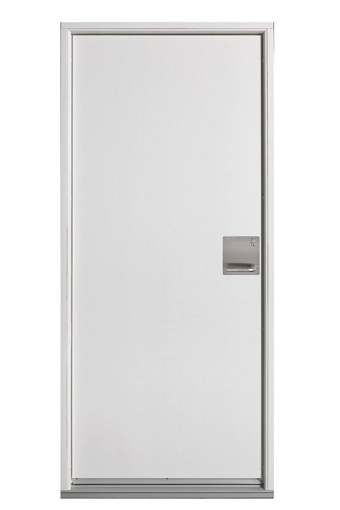 Omega - a sleek, simple design for modern buildings. Available with stainless steel kick plates. http://www.olsenuk.com/products/entrance-doors/je-trae-contemporary