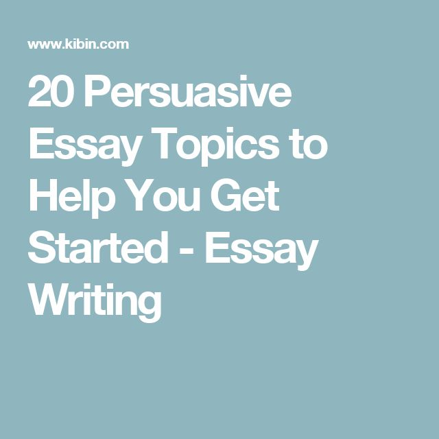 Help with writing persuasive essay