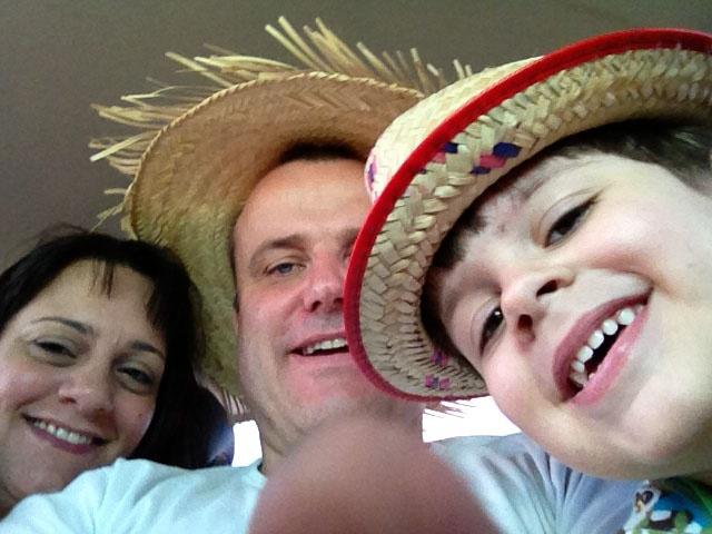 The larsson family celebrating Sao Joa.