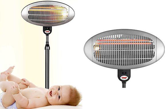 Beim Wickeln oder nach dem Baden brauchen Babys oft die Wärme von Heizstrahlern oder Heizlüftern, denn in den ersten Monaten können sie ihre Körpertemperatur noch nicht selbst regulieren und kühlen schnell aus.